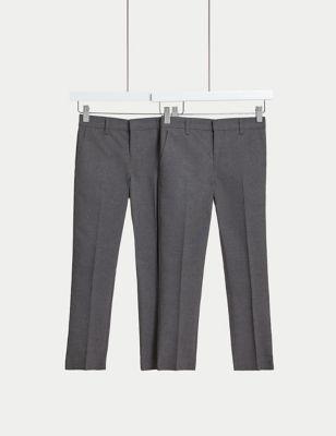 Boys' 2pk Skinny Leg School Trousers