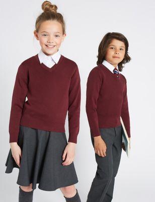 Unisex Cotton Rich School Jumper