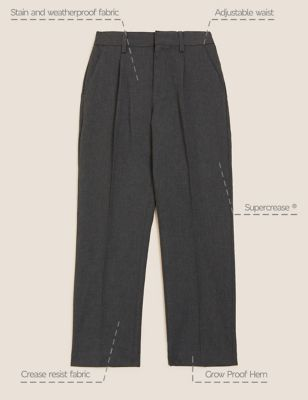 Boys' Regular Leg School Trousers (2-16 Yrs)