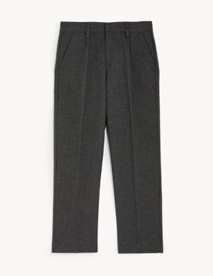 Boys' Regular Leg Plus Fit School Trousers (2-18 Yrs)