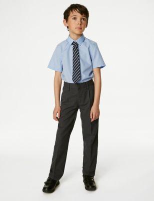 Boys' Regular Leg Slim Fit School Trousers