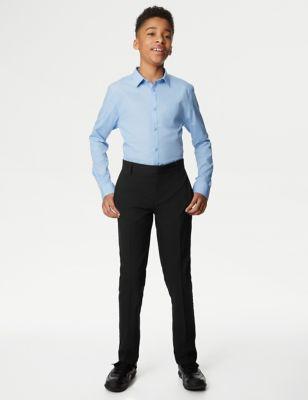 Boys' Skinny Leg Plus Fit School Trousers (2-18 Yrs)