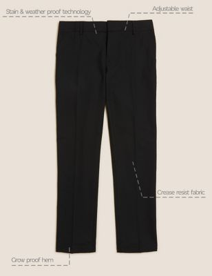 Boys' Skinny Leg School Trousers (2-18 Yrs)