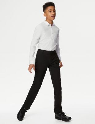 Boys' Plus Fit Slim Leg School Trousers (2-18 Yrs)