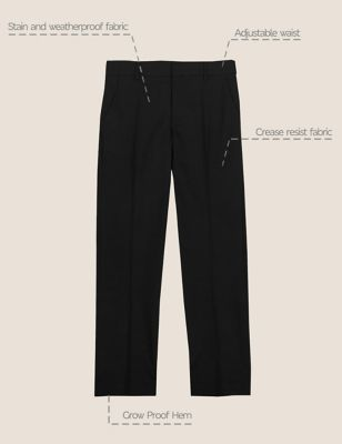 Boys' Slim Leg Slim Fit School Trousers (2-18 Yrs)