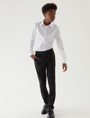 Boys' Super Skinny Slim Fit School Trousers (2-18 Yrs)