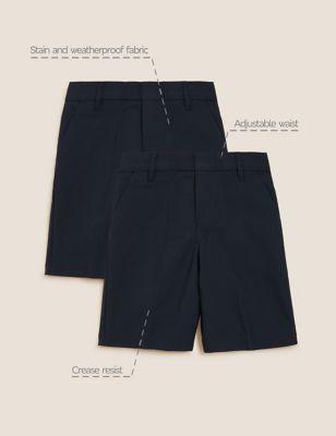 2pk Boys' Regular Leg School Shorts (2-14 Yrs)