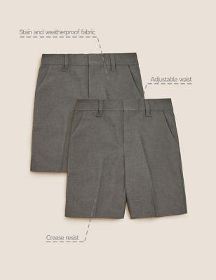 2pk Boys' Regular Leg School Shorts