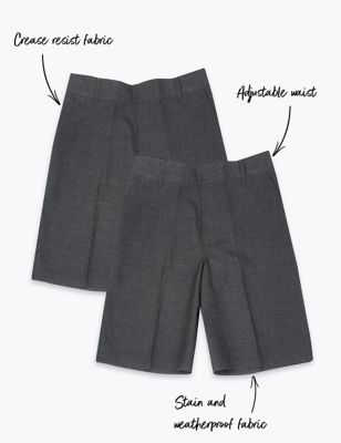 2pk Boys' Plus Fit Adaptive School Shorts