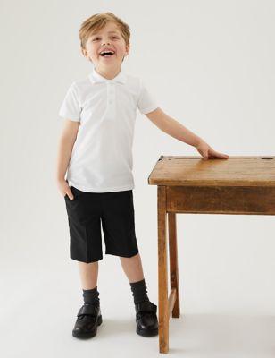 2pk Boys' Skinny Leg School Shorts (3-14 Yrs)