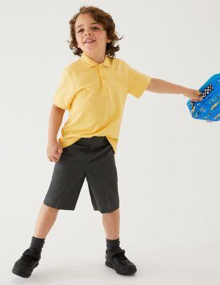 2pk Boys' Slim Leg Plus Fit School Shorts (4-14 Yrs)
