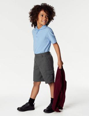2pk Boys' Plus Fit Cargo School Shorts