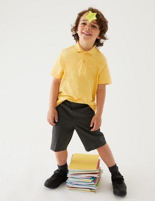 2pk Boys' Slim Leg Slim Fit School Shorts (2-14 Yrs)