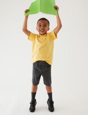 2pk Boys' Front Pleat School Shorts