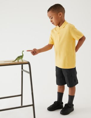 2pk Boys' Pure Cotton School Shorts (2-14 Yrs)