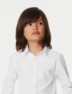 3pk Boys' Slim Fit Easy Iron School Shirts (2-16 Yrs)