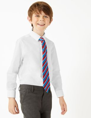 3pk Boys' Easy Iron School Shirts (2-16 Yrs)
