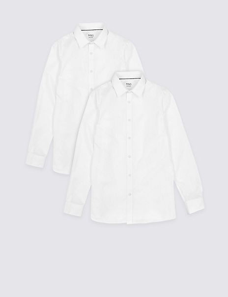 2 Pack Boys' Slim Fit Non-Iron Shirts