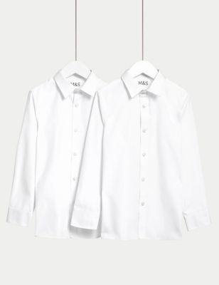 Boys' 2pk Slim Fit Stretch School Shirts (2-16 Yrs)