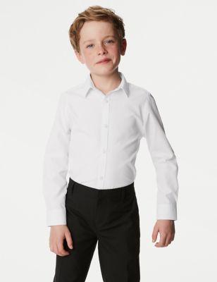 Boys' 2pk Skinny Fit Stretch School Shirts (2-16 Yrs)
