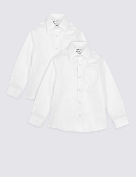 2 Pack Boys' Plus Fit Non-Iron Shirts