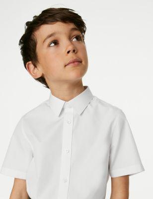 3pk Boys' Plus Fit Easy Iron School Shirts (4-18 Yrs)