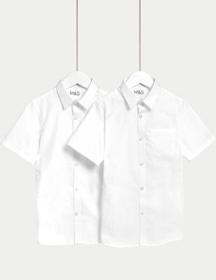 2pk Boys' Non-Iron School Shirts (2-18 Yrs)