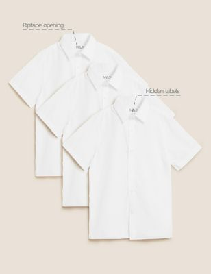 3pk Boys' Adaptive Easy Iron School Shirts