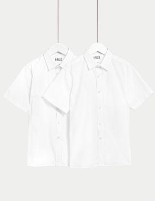 Boys' 2pk Slim Fit Stretch School Shirts (2-18 Yrs)
