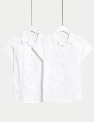 2pk Girls' Easy Iron School Shirts (2-16 Yrs)