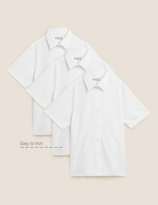 3pk Girls' Adaptive Easy Iron School Shirts