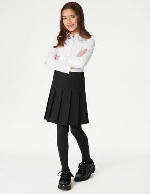 3pk Girls' Slim Fit Easy Iron School Shirts (2-16 Yrs)