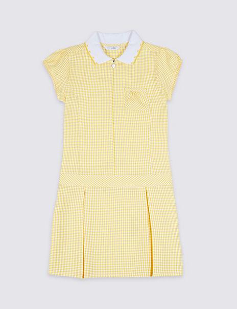 Girls' Longer Length Gingham Dress