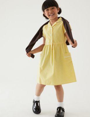Girls' Skin Kind™ Gingham School Dress (2-14 Yrs)