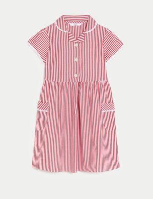 Girls' Pure Cotton Striped School Dress (2-14 Yrs)