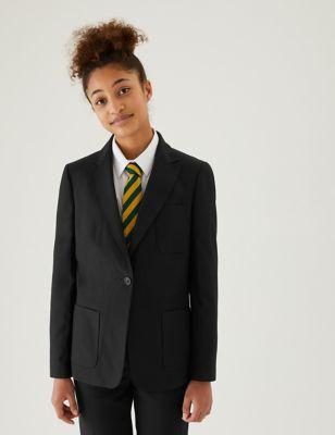 Girls' Slim Fit School Blazer (9-16 Yrs)