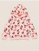 Cotton Disney Minnie Mouse™ Print Hoodie (2-7 Yrs)