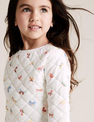Pure Cotton Butterfly Sweatshirt (2-7 Yrs)