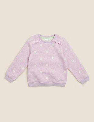 Cotton Floral Sweatshirt (2-7 Yrs)