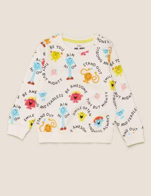 Cotton Mr Men™ Little Miss™ Sweatshirt (2-7 Yrs)