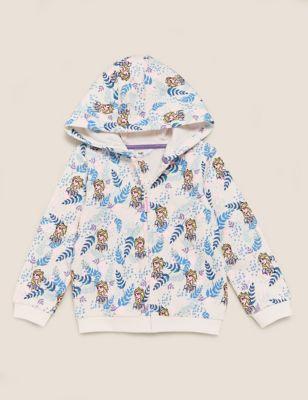 Cotton Disney Frozen™ Print Hoodie (2-10 Yrs)