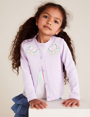 Pure Cotton Butterfly Cardigan (2-7 Yrs)