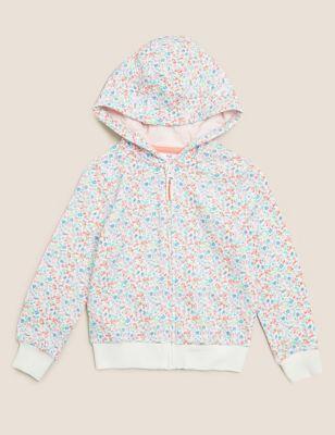 Cotton Floral Print Hoodie (2-7 Yrs)