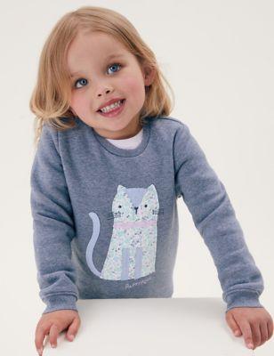 Cotton Cat Sweatshirt (2-7 Yrs)