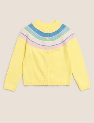 Pure Cotton Striped Cardigan (2-7 Yrs)