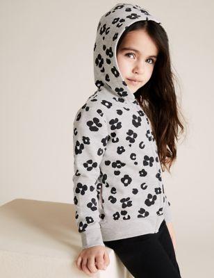 Cotton Leopard Hoodie (2-7 Yrs)