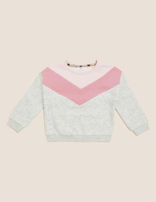 Cotton Colourblock Sweatshirt (2-7 Yrs)