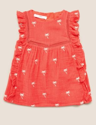 Pure Cotton Patterned Top (2-7 Yrs)