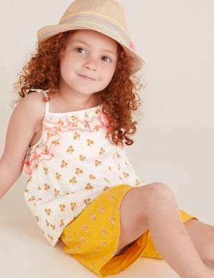 Pure Cotton Floral Top (2-7 Yrs)