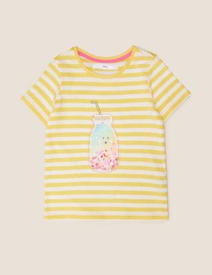 Pure Cotton Sequin Milkshake T-Shirt (2-7 Yrs)